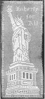 Product picture Statue of Liberty in Filet Crochet