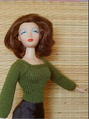 Product picture Knitting Pattern for SWEATER FOR GENE Doll Style Princess