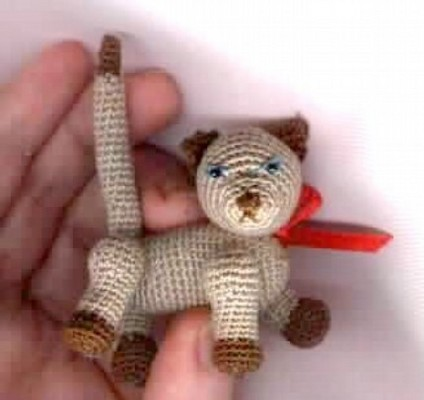 Product picture PERCY *** Miniature Cat Crochet Pattern