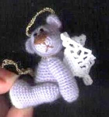 Product picture BLUE ANGEL *** Thread Crochet Bear Pattern by Edith Molina