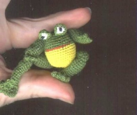 Product picture CLEO *** Thread FROG Crochet Pattern by Edith Molina