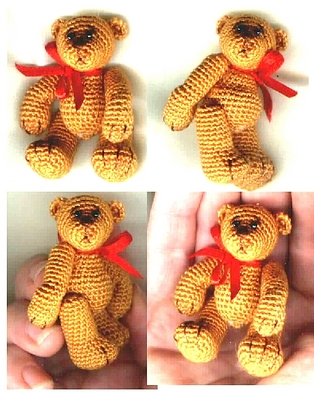 Product picture LEARN to make a Thread Crochet Bear with this Edith Molina Pattern
