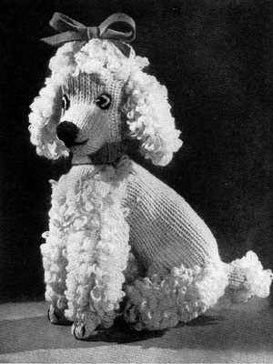 Product picture VINTAGE KNITTING PATTERN Poodle Dog Toy